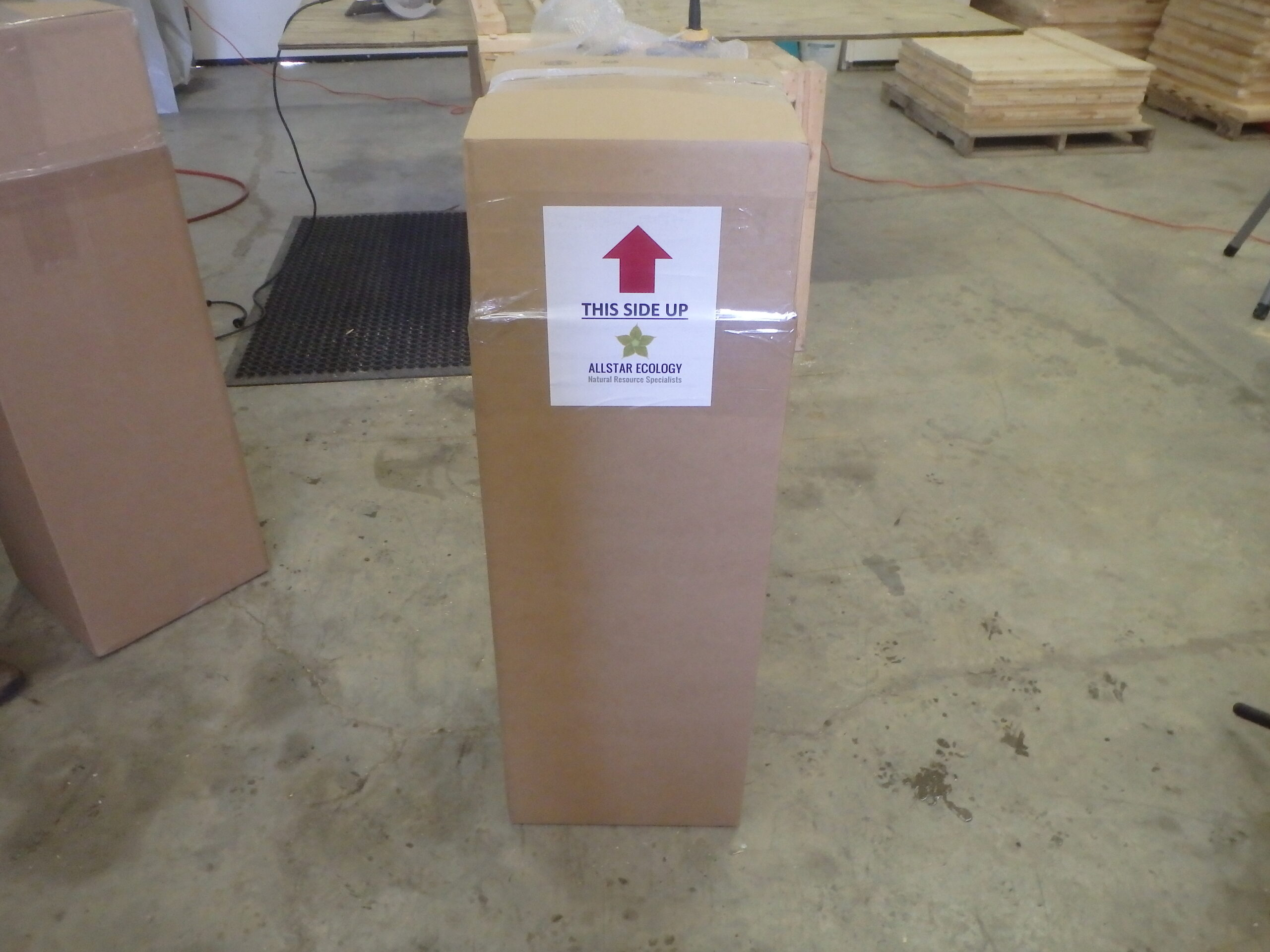 We package and label each bat box to ensure proper handling.